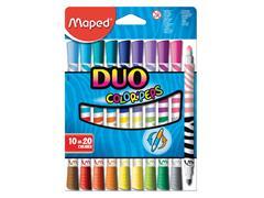 Viltstift Maped Color'peps duo karton ophangdoos 10stuks