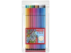 Viltstift STABILO Pen 68/20 etui à 20 kleuren