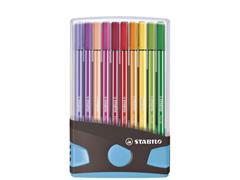 Viltstift STABILO Pen 68 ColorParade turquoise etui à 20 kleuren