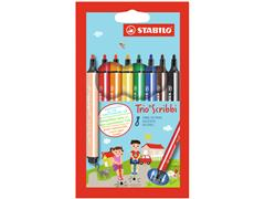 Viltstift STABILO Scribbi 368 etui à 8 kleuren