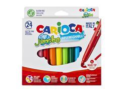 Viltstiften Carioca Jumbo Maxi set à 24 kleuren