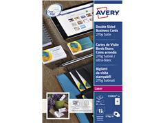 Visitekaart Avery C32026-10 2-zijdig 85x54mm 270gr 100 stuks