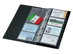 Visitekaartenringband Sigel VZ300 voor 200kaarten zwart