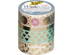 Washi tape hotfoil goud