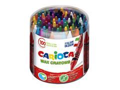 Waskrijtjes Carioca pot à 100 stuks kleuren