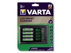 Batterij oplader Varta LCD Smart incl. 4x2100MAH