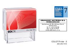 Tekststempel Colop Printer 50 +bon 7regels 69x30mm