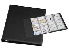 Visitekaartenringband Rillstab 18640 A4 kunststof zwart