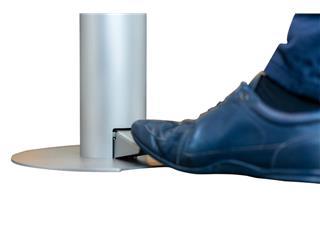 Desinfectiezuil met voetpedaal