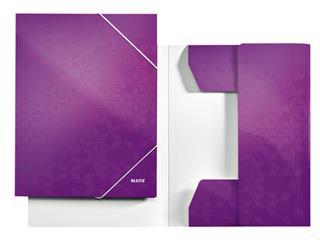 Elastomap Leitz WOW 3-kleps A4 karton paars