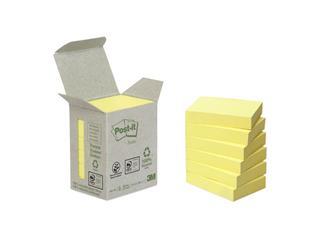 Memoblok 3M Post-it 653-1B 38x51mm 6 stuks recycled geel