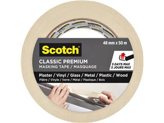 Afplaktape Scotch Premium Classic 48mmx50m beige