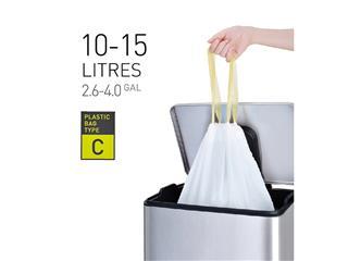 Afvalzak EKO met trekband 10-15 liter type C wit