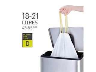 Afvalzak EKO met trekband 18-21 liter type D wit