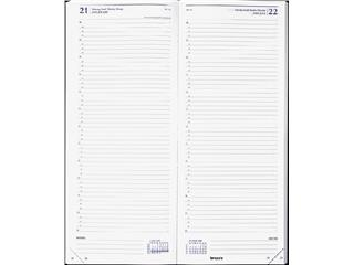 Agenda 2022 Brepols Saturnus lang 1dag/1pagina zwart
