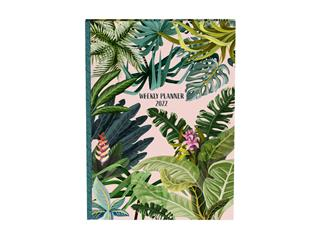 Agenda 2022 planner Botanic pink leaves