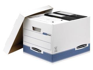 Archiefdoos Bankers Box System standaard wit blauw