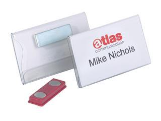 Badge Durable 8116 vlak met magneet 40x75mm