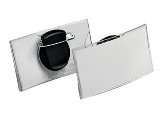 Badge Durable 8124 convex met combiklem 40x75mm
