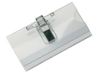 Badge Opus 2 met clip en speld 60x90mm