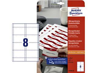 Badgekaart Avery L4728-20 60x90mm microperforatie