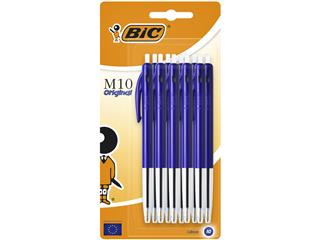 Balpen Bic M10 blauw medium blister à 10st