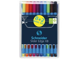 Balpen Schneider Slider Edge XB etui à 8+2 kleuren gratis