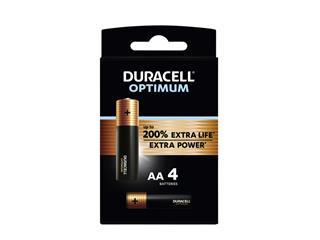 Batterij Duracell Optimum 4xAA