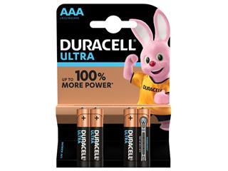 Batterij Duracell Ultra Power 4xAAA