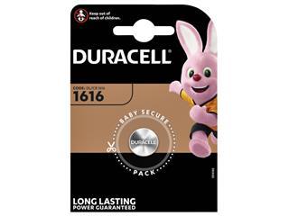 Batterij Duracell knoopcel 1xCR1616 lithium Ø16mm 3V-50mAh