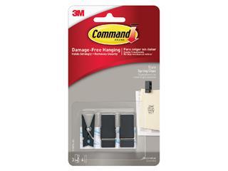 Bevestigingsstrip Command 3 springclips zwart