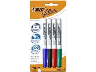 Blister 4 BIC Whiteboard Marker Velleda 1741 blister assorti
