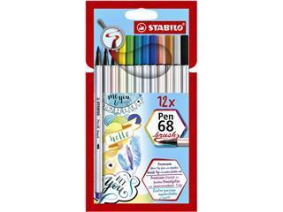 Brushstift STABILO Pen 568/12-21 etui à 12 kleuren