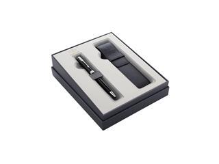 Cadeauset Parker balpen Sonnet Black Lacquer CT M met pennenetui