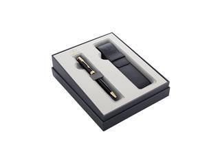 Cadeauset Parker balpen Sonnet Black Lacquer GT M met pennenetui