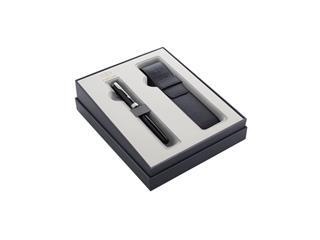 Cadeauset Parker vulpen Sonnet Black Lacquer CT M met pennenetui