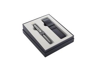 Cadeauset Parker vulpen Sonnet steel CT M met pennenetui