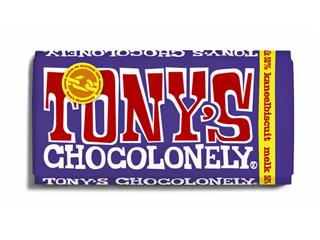 Chocolade Tony's Chocolonely melk kaneelbiscuit 180gr