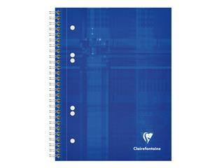 Collegeblok Clairefontaine Studium A5+ 6-gaats 80blz ruit 5x5mm assorti