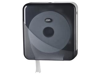 Dispenser Euro Pearl toiletrolhouder maxi zwart
