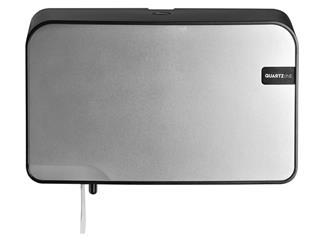 Dispenser Euro Quartz toiletrolhouder duo zilver