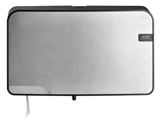 Dispenser Euro Quartz toiletrolhouder mini zilver