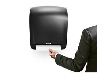Dispenser Katrin 92025 handdoekenrol zwart