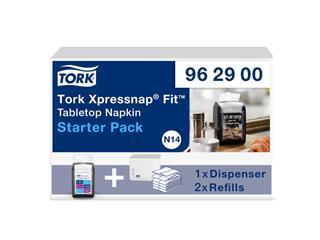 Dispenser startpakket Tork 962900 Xpressnap Fit zwart