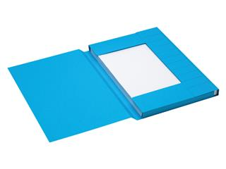 Dossiermap Jalema Secolor folio 3 kleppen 225gr blauw