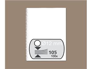 Draadrug Fellowes 12mm 34-rings A4 wit 100stuks