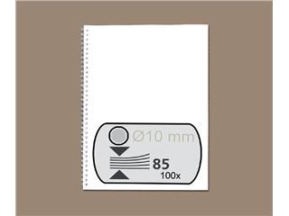 Draadrug GBC 10mm US/21rings A4 zilver 100stuks