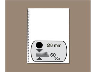 Draadrug GBC 8mm 34-rings A4 zwart 100stuks