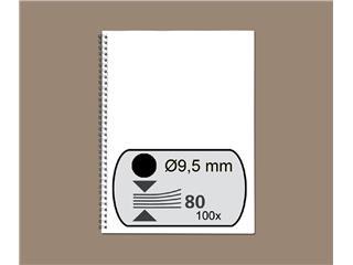 Draadrug GBC 9.5mm 34-rings A4 zwart 100stuks