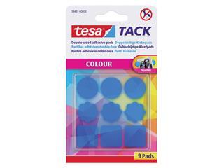Dubbelzijdige kleefpads Tesa tack blauw 9stuks